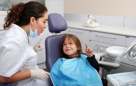 Young girl getting a dental cleaning at Janice K. Pliszczak, DDS in Syracuse, NY